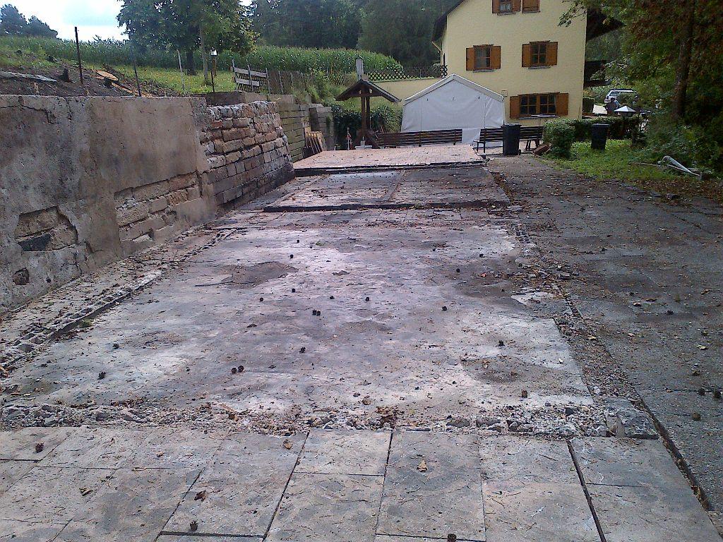 Abbruch und aufr umungsarbeiten nach dem brand der - Gartenbau ansbach ...